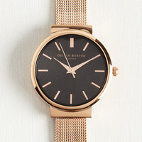 This Moment in Timeless Watch in Rose Gold - Midi | Mod Retro Vintage Watches | ModCloth.com