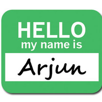 Arjun Hello My Name Is Mouse Pad