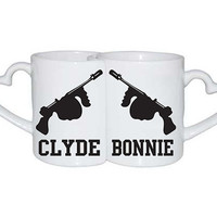 Love Mugs Bonnie and Clyde Valentine Day couples gift
