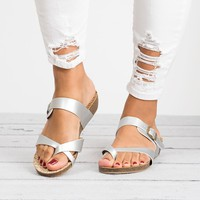 Bahama Wedge Silver Sandals