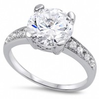 Harlow's Sterling Silver Classic Round Wedding Ring