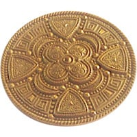 Signed Miriam Haskell Etruscan Revival Shield Brooch circa 1970