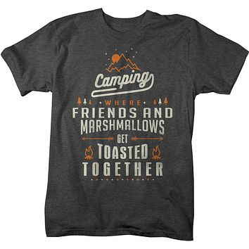 Men's Funny Camping T-Shirt Friends Marshmallows Toasted Together Shirt Camper Tshirt Fun Camp Shirts