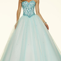 Ball Gown Style Mori Lee Prom Dress with Corset Back