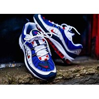 Nike Air Max 98 Sneakers Trending Shoes Blue White