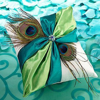 Peacock Feather Ring Pillow