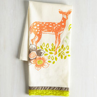 Critters All Good in the Woods Tea Towel in Deer by ModCloth