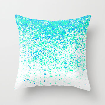 sparkling mint Throw Pillow by Marianna Tankelevich