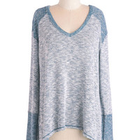 ModCloth Pastel Mid-length Long Sleeve Love at Comforts Sight Sweater