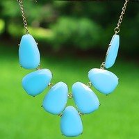 Stepping Stones Necklace in Powder Blue