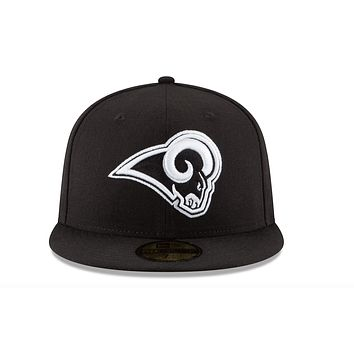 Los Angeles Rams Black & White 59Fifty Fitted