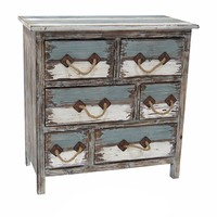 Nantucket 6 Drawer Weathered Wood Chest By Crestview Collection Cvfzr1244