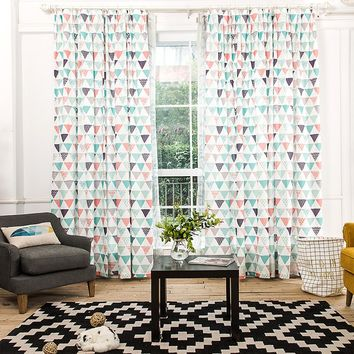 Drapes with Tribal Aztec Triangle