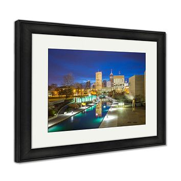 Framed Print, Downtown Indianapolis Skyline