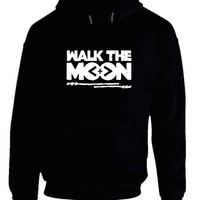 Walk The Moon Title Black And White Hoodie