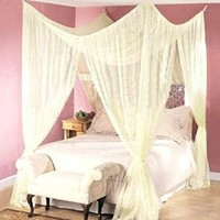 Dreamma 4 Poster Bed Canopy Mosquito Net Queen King Size:Amazon:Home & Kitchen