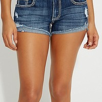 kaylee high rise shorts with destruction   maurices