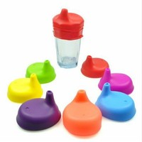 Silicone Baby Cups Lid Food Grade Nozzle Lid Glass Mug Dustproof Cover Leakproof Drinkware Supplies