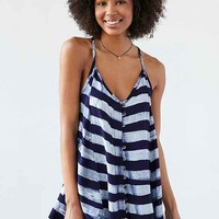 Della Cami Button-Front Swing Mini Dress