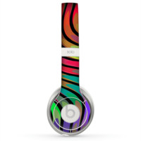 The Swirled Neon Abstract Lines Skin for the Beats by Dre Solo 2 Headphones