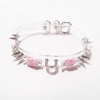 Clear Double Spike Flower Choker