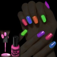 Glow in the Dark Nail Polish Astral Lights One Bottle of Pink