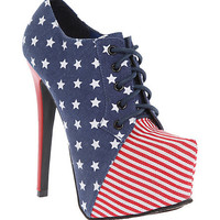 Sacred Heart Americana Platform Heel Bootie | Hot Topic