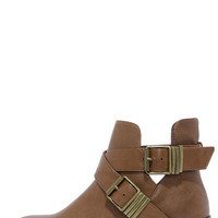 Bronco 11 Tan Cutout Ankle Boots
