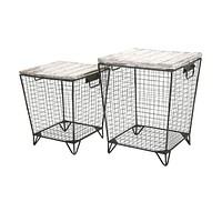 Ava Cage Tables - Set of 2 -IMAX