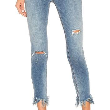 Free People Great Heights Frayed Skinny Blue Sky