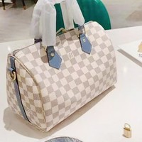 LV Louis Vuitton Women's new white bag handbag shoulder bag pillow bag
