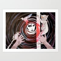 Relationship in peril Art Print by Bruce Stanfield