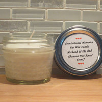 Scented Candle Weekend at the BnB Banana Nut Bread Scented Soy Candle 4 ounce size Hand Poured