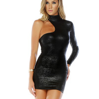 Sassy Metallic Bodycon Dress-Clubwear Dresses