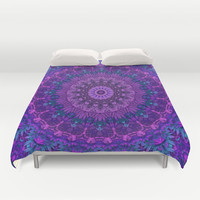 Harmony in Purple Duvet Cover by Lyle Hatch | Society6
