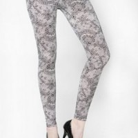 Sexy & Soft Laurel Fishnet Patterned Cotton Fashion Leggings-S/M
