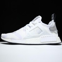 """Adidas"" NMD XR1 Duck Camo Camouflage Stylish Women Men Casual Running Sport Casual Shoes Sneakers White I"
