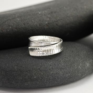 Cactus Spine Wrapped Ring in Silver