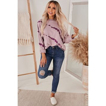 Came To Chill Tie Dye Sweatshirt (Misty Mauve)