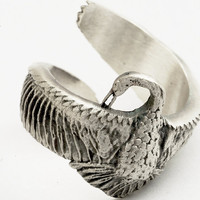 Spoon Ring Wrap Goose Bird Ring in Sterling Silver by Spoonier