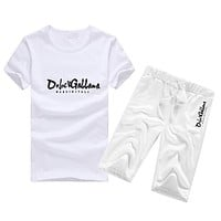 Boys & Men Dolce&Gabbana Fashion Casual Shirt Top Tee Shorts Two Piece Set