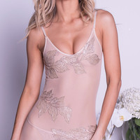 KNILEY DRESS IN NUDE WITH GOLD