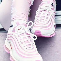 Nike Air Max 97 Pink Sport Casual Shoes Sneakers