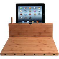 CTA PAD-BCBS Tablet Stand & Knife Storage Bamboo Cutting Board