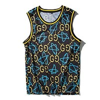 GUCCI Woman Men Fashion Loose Vest Tank Top-1