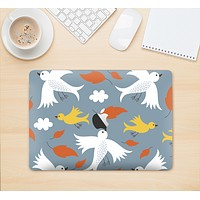 """The Flying Vector Birds Pattern Skin Kit for the 12"""" Apple MacBook (A1534)"""