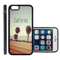 RCGrafix Brand California Beach Apple Iphone 6 Plus Protective Cell Phone Case Cover - Fits Apple Iphone 6 Plus