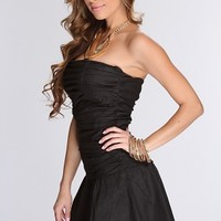 Black Pleaded Strapless Elegant Party Dress @ Amiclubwear sexy dresses,sexy dress,prom dress,summer dress,spring dress,prom gowns,teens dresses,sexy party wear,women's cocktail dresses,ball dresses,sun dresses,trendy dresses,sweater dresses,teen clothing,