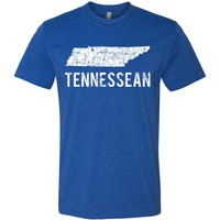 Adult Tennessean on a Blue T-Shirt