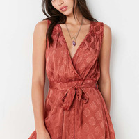 Ecote Rayna Surplice Playsuit - Urban Outfitters